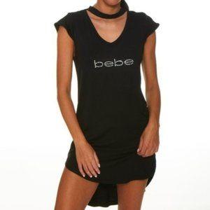 🔥HOT ITEM🔥Black Choker-Cutout 'Bebe' Sleep Dress